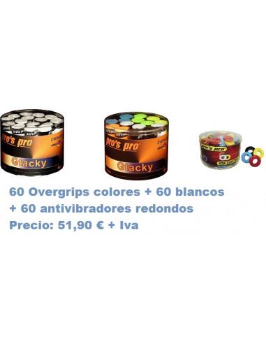 OFERTA 120 OVERGRIPS + 60 ANTI VIBRADORES